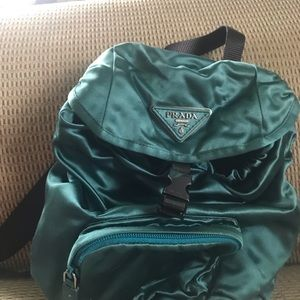 Authentic Prada Silk Mini Backpack.